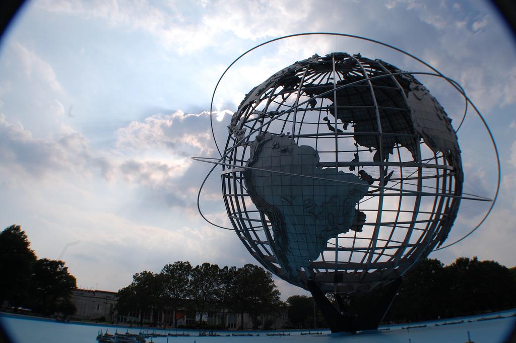 Globe in Skyline